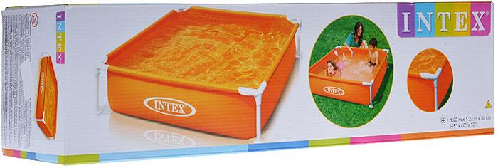 Бассейн каркасный Intex, 122 см х 30 см,оранжевый бассейн каркасный intex 58472