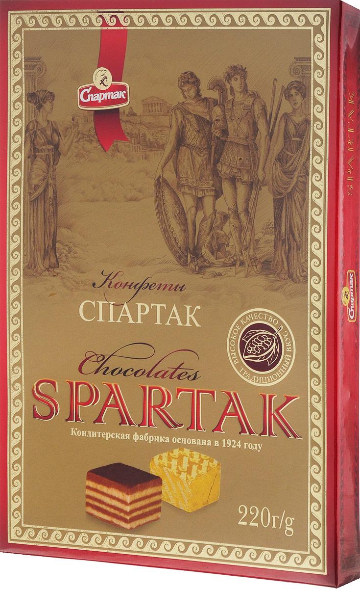 Спартак набор конфет неглазированные, 220 г цена