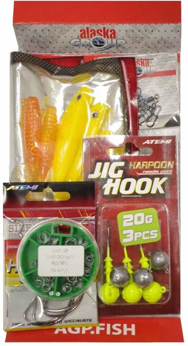 Набор для летней рыбалки Аляска Джиг-силикон №2, 76 предметов