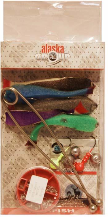 Набор для летней рыбалки Аляска Джиг-поролон №1, для ловли судака, 71 предмет набор для летней рыбалки аляска джиг поролон 1 для ловли судака 71 предмет