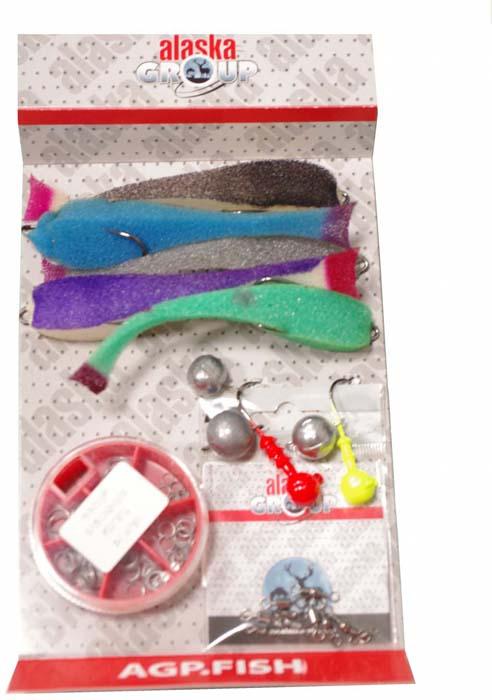 Набор для летней рыбалки Аляска Джиг-поролон №2, для ловли судака, 71 предмет набор для летней рыбалки аляска джиг поролон 1 для ловли судака 71 предмет
