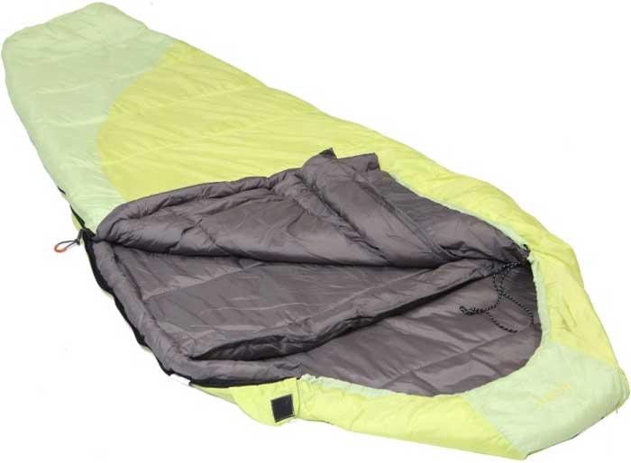 Спальный мешок-кокон Talberg Belchen -15C, левосторонняя молния, цвет: желтый
