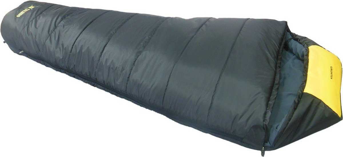 Спальный мешок-кокон Talberg Grunten -34C, левосторонняя молния, цвет: темно-серый