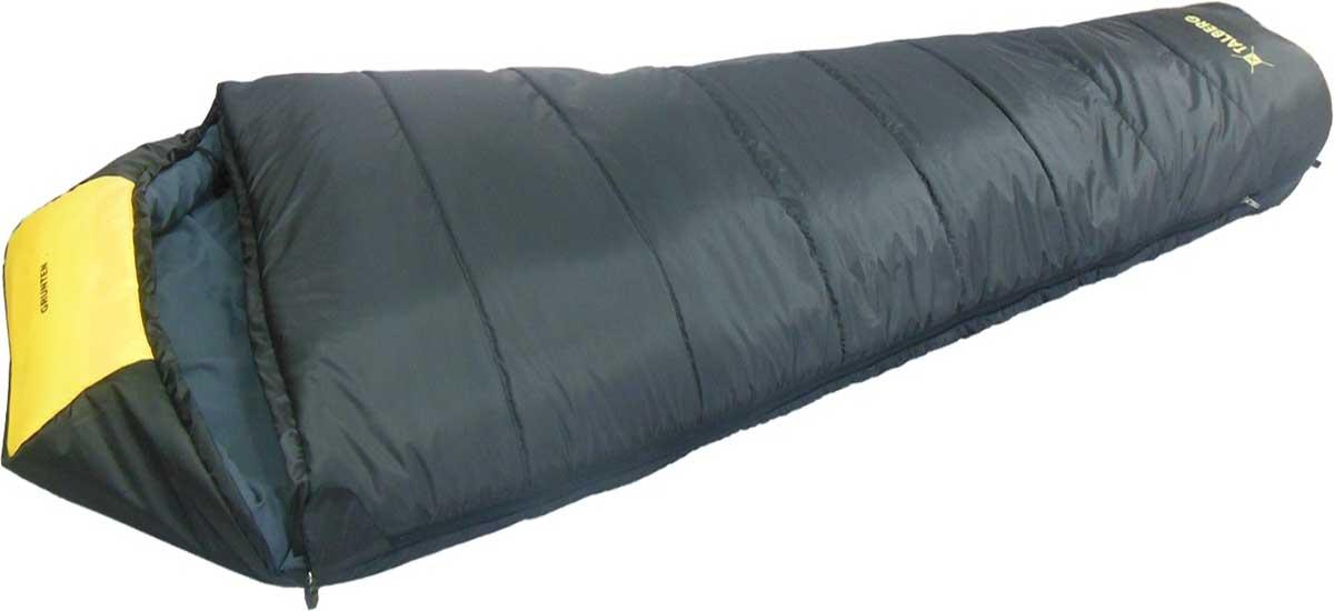 Спальный мешок-кокон Talberg Grunten -34C, правосторонняя молния, цвет: темно-серый