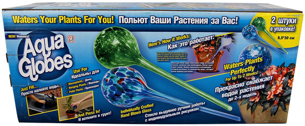 Колба Masterprof Aqua Globes, для автополива, длина 30 см, 2 шт цена