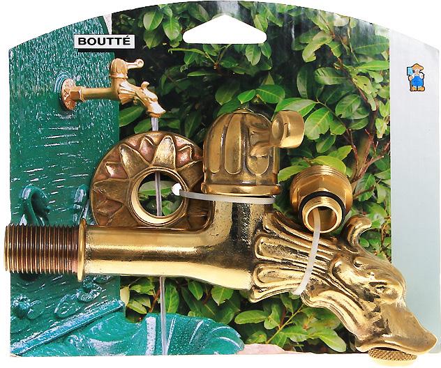 Кран садовый Boutte Дракон с вентилем, 1,2 фонтан садовый декоративный green apple кувшин 53 х 33 х 51 см