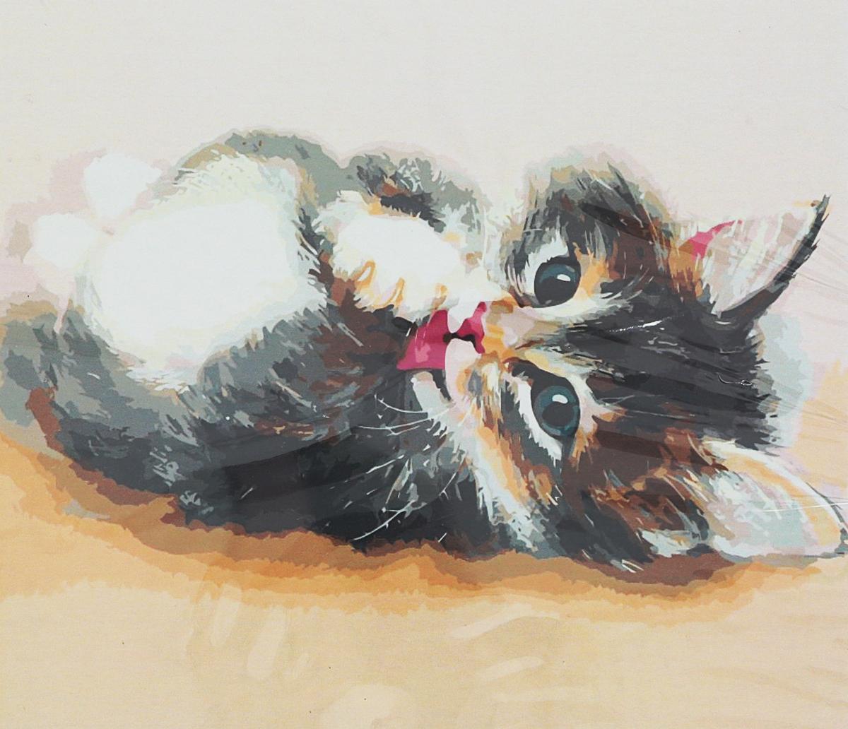 Набор для рисования по номерам Цветной Милый котенок, 40 х 50 см набор для рисования по номерам цветной милый котенок 40 х 50 см