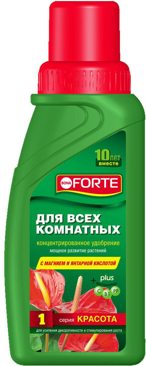 Жидкое комплексное удобрение Bona Forte, для всех комнатных растений, 285 мл жидкое комплексное удобрение bona forte для фикусов и пальм 285 мл