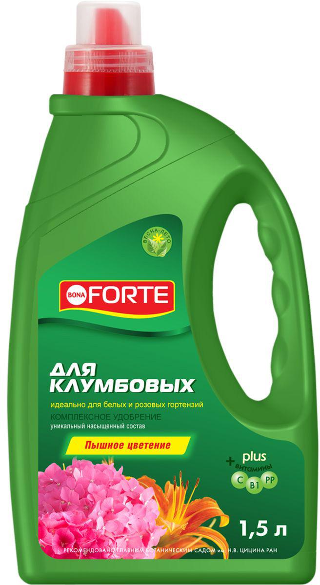 Жидкое комплексное удобрение Bona Forte, для роз, гортензий и клумб, 1,5 л жидкое комплексное удобрение bona forte для фикусов и пальм 285 мл
