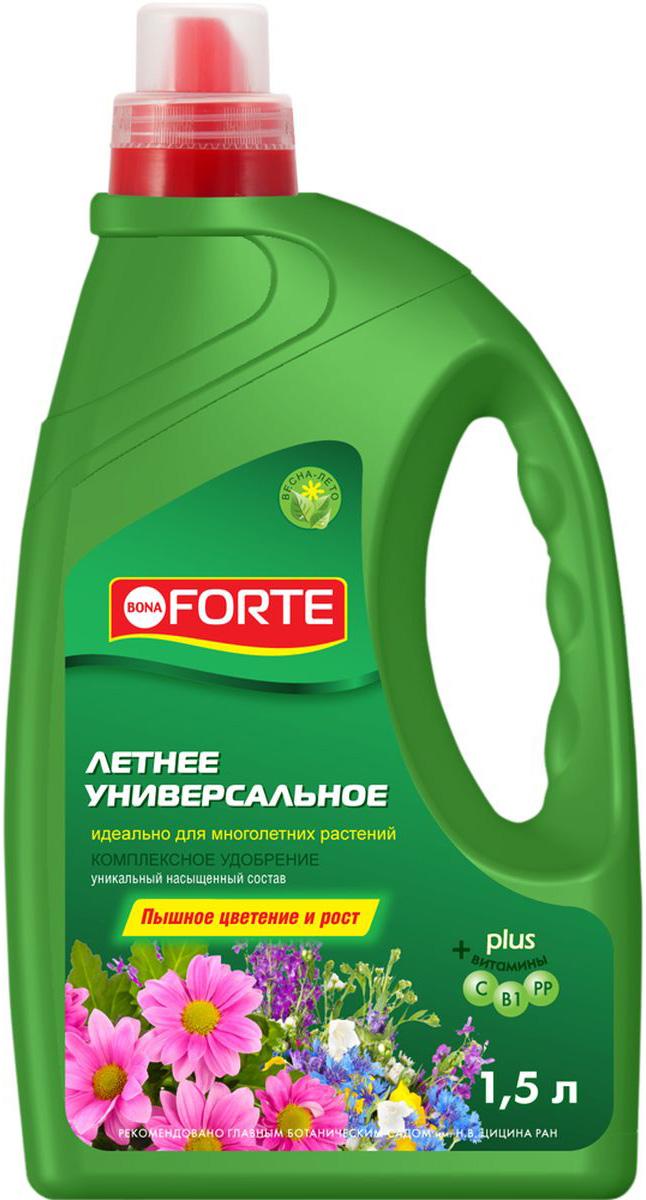 Жидкое комплексное удобрение Bona Forte, универсальное, 1,5 л жидкое комплексное удобрение bona forte для фикусов и пальм 285 мл