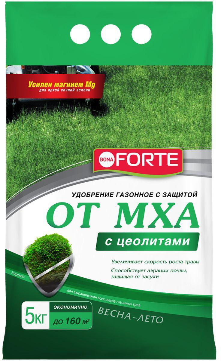 Удобрение для газона Bona Forte, с защитой от мха, 5 кг удобрение пролонгированное bona forte розы и клумбовые с биодоступным кремнием 2 5 кг