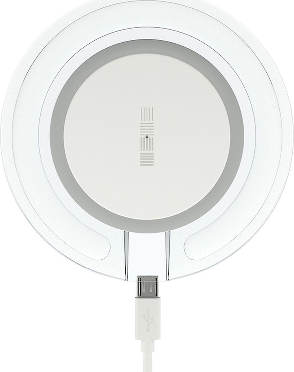 Interstep QI 1,5А, White Blue беспроводное зарядное устройство беспроводное зарядное устройство interstep qi 10w is tc qisetw10w 000b201 белый