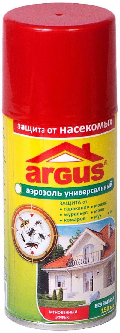 Аэрозоль от кровососущих насекомых Argus, 150 мл аэрозоль универсальный от насекомых инсектицидный 180мл help