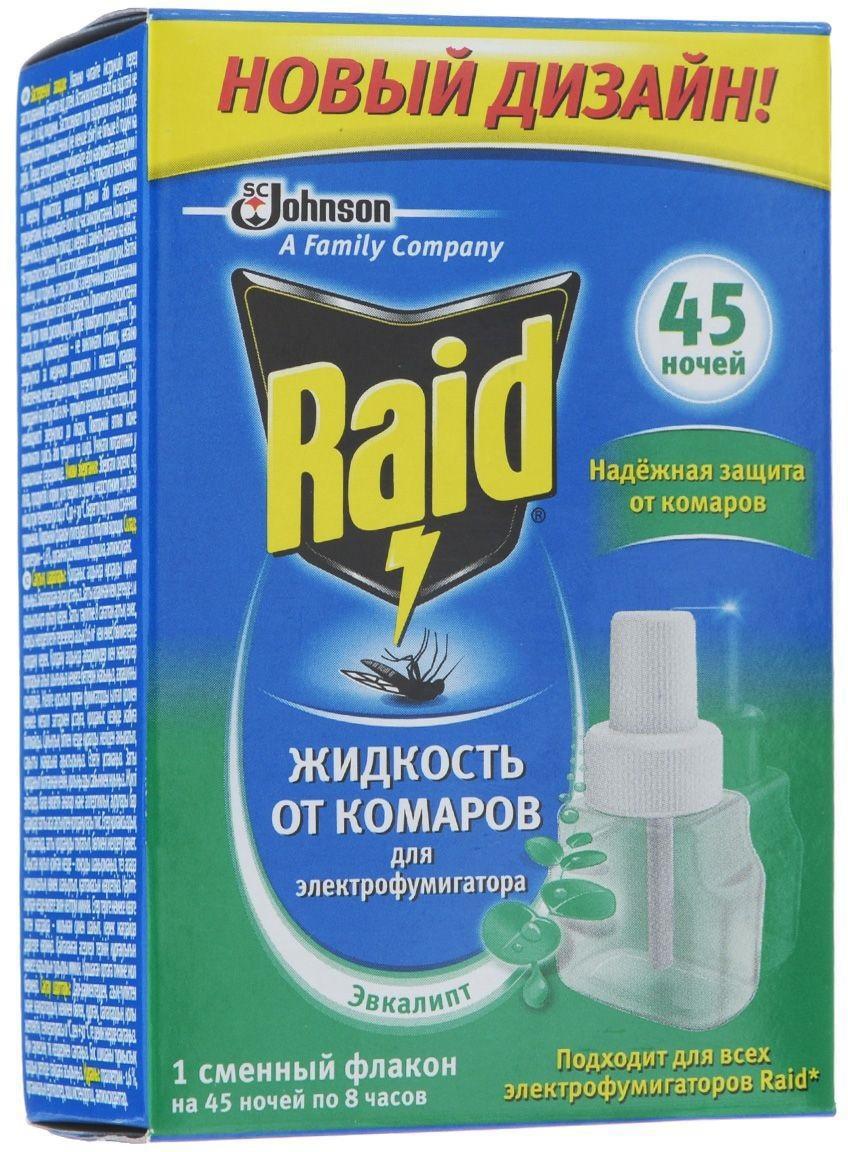 Жидкость для фумигатора Raid Эвкалипт, на 45 ночей