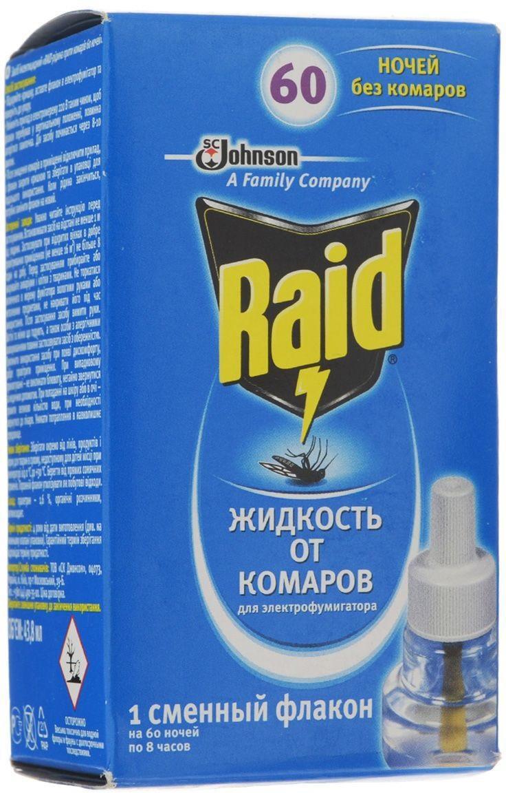 Жидкость для фумигатора от комаров Raid, на 60 ночей raid от насекомых