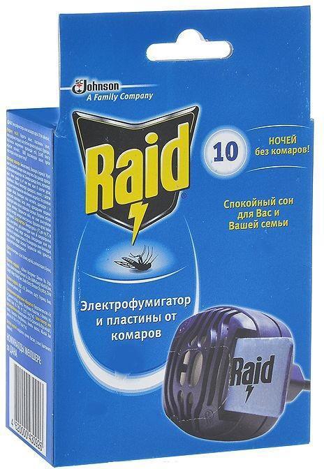 Электрофумигатор от комаров Raid + 10 пластин рейд электрофумигатор пластины от комаров 10шт