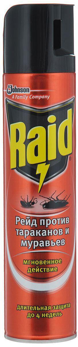 Аэрозоль против тараканов и муравьев Raid, 300 мл аэрозоль от ползающих и летающих насекомых raid лаванда 300 мл
