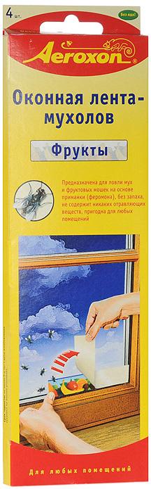 Оконная лента-мухолов Aeroxon, 4 шт липкая лента bondage tape