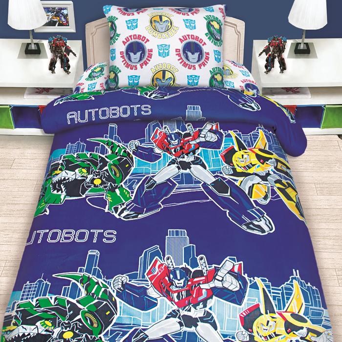 """Комплект постельного белья Mona Liza """"Transformers"""", 1,5 спальное, цвет: синий, наволочка 50 х70 см"""