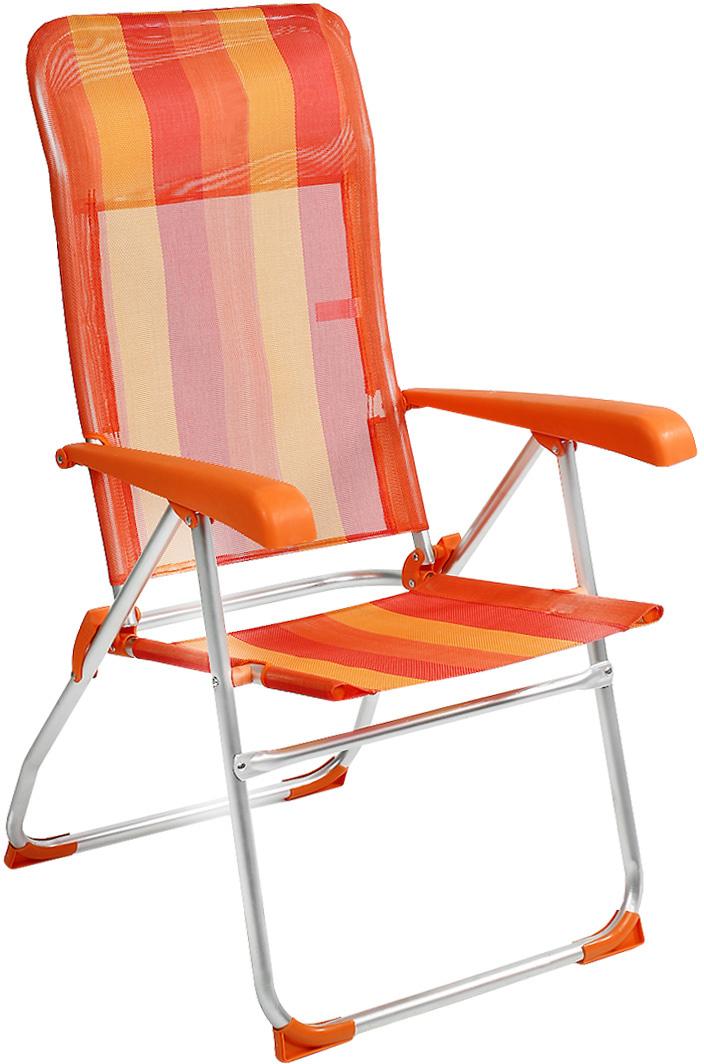 Кресло складное Happy Camper, цвет: желтый, оранжевыйЛК-2120Кресло складное Happy Camper - это незаменимый предмет походной мебели, очень удобен в эксплуатации. Каркас кресла изготовлен из прочного и долговечного алюминиевого сплава, устойчивого к погодным условиям, и оснащенный простым и безопасным механизмом регулировки и фиксации. Подлокотники выполнены из пластика. Кресло легко собирается и разбирается и не занимает много места, поэтому подходит для транспортировки и хранения дома. Складное кресло прекрасно подойдет для комфортного отдыха на даче или в походе.