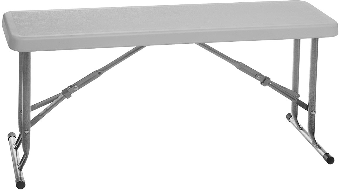 Скамейка складная Green Glade C095, цвет: белый, 95 х 22,5 х 41 см кресло складное green glade m2306 65 см х 66 см х 95 см