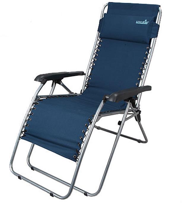 Кресло-шезлонг Norfin Somero NFL, цвет: синий, 54 см х 53 см х 117 см цена