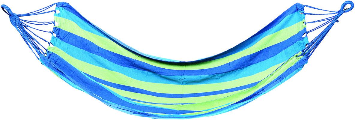 Гамак полотняный KingCamp, цвет: синий, зеленый, 200 см х 100