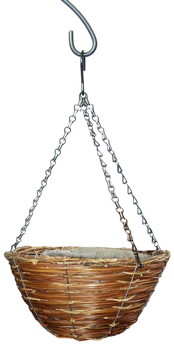 Кашпо плетеное Грин Бэлт, корзина, диаметр 30 см кронштейн декоративный грин бэлт петух для подвесных кашпо