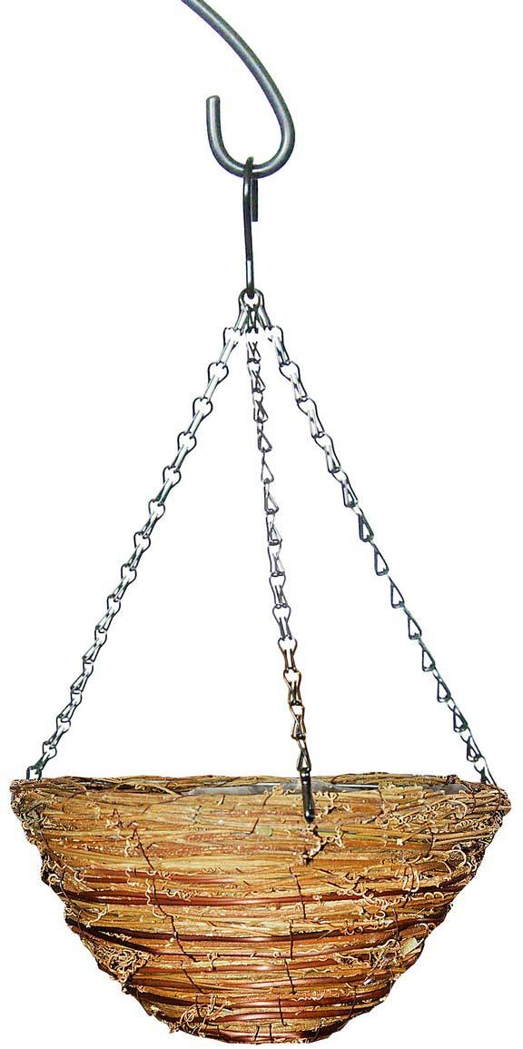 Кашпо плетеное Грин Бэлт, сфера, диаметр 30 см кронштейн декоративный грин бэлт петух для подвесных кашпо