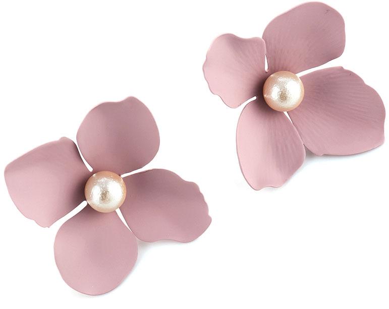 Серьги Selena Audrey, цвет: белый, розовый. 20103830 серьги selena цвет белый 20091820