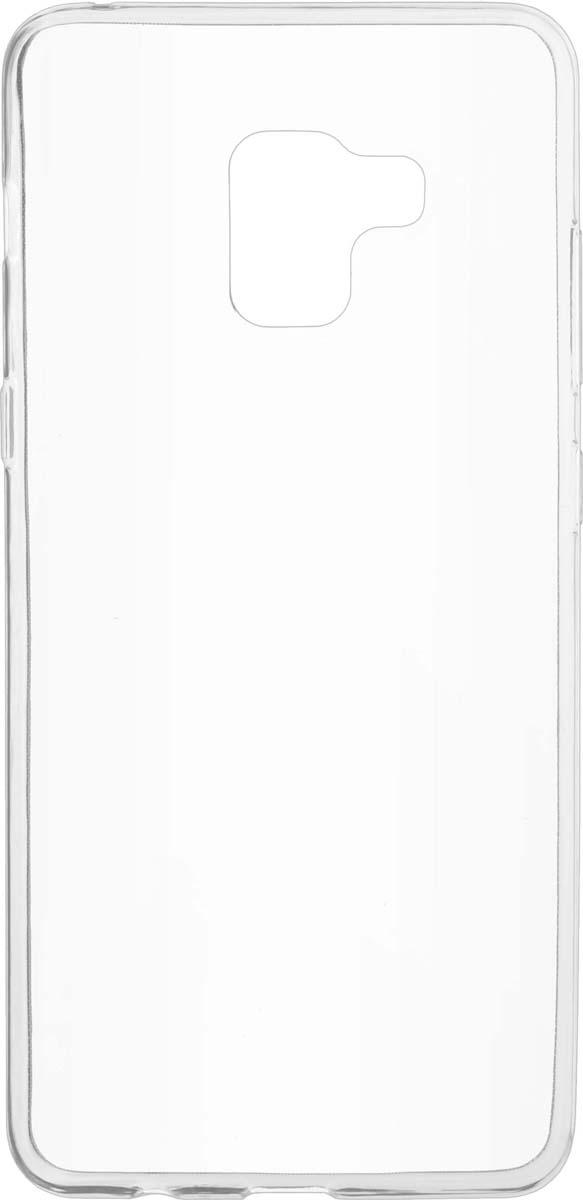 Чехол Skinbox Slim Silicone для Samsung Galaxy A8 Plus (2018), Transparent skinbox накладка skinbox slim silicone для samsung galaxy note 7