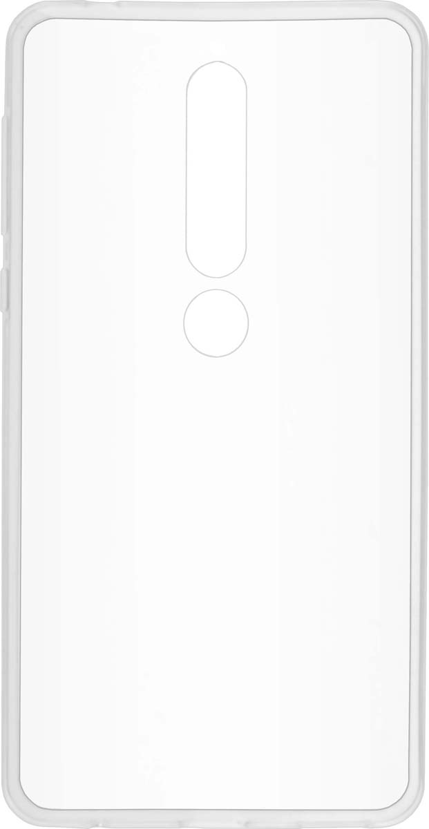 Чехол Skinbox Slim Silicone 4People для Nokia 6 (2018), Transparent skinbox slim silicone 4people чехол для huawei y9 2018 transparent