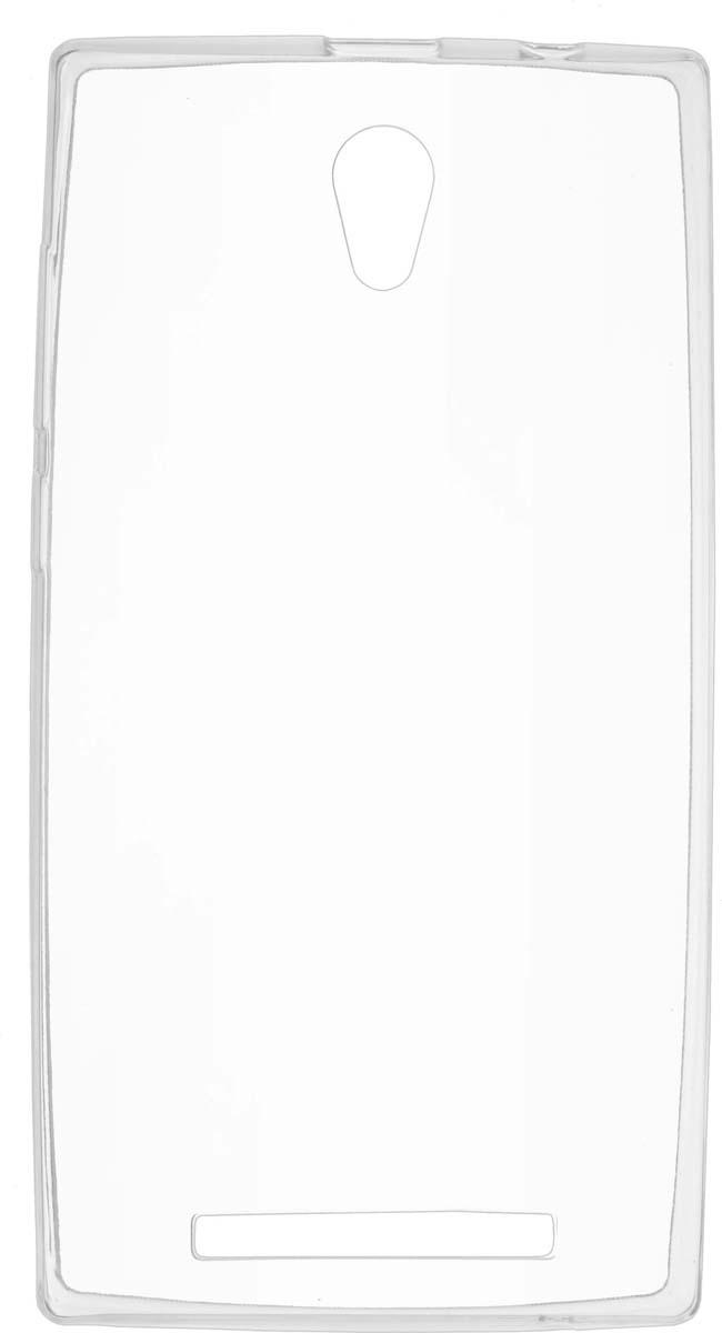 Чехол Skinbox Slim Silicone для Prestigio Muze C5/C7, Transparent цена и фото