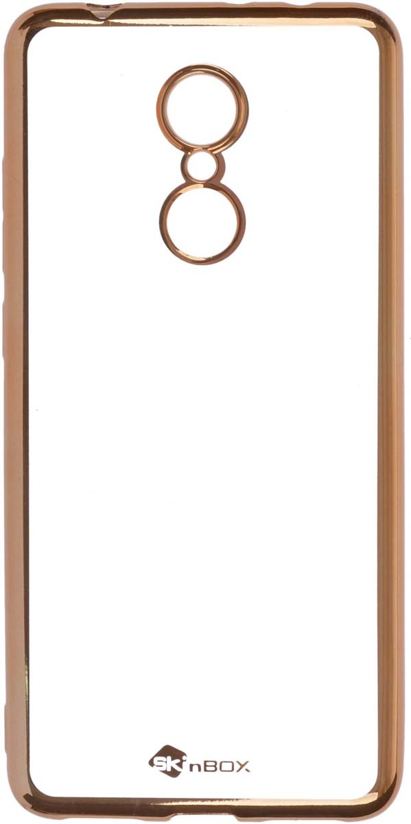 Skinbox Silicone Chrome Border 4People чехол для Xiaomi Redmi 5, Gold чехол skinbox slim silicone для xiaomi redmi 5 transparent