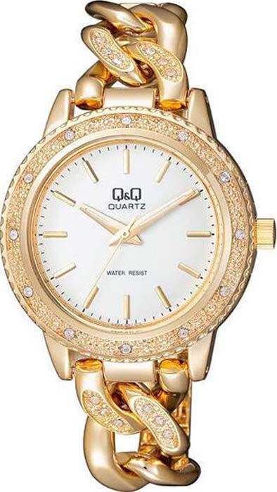 Часы наручные женские Q&Q, цвет: золотистый. F535-001 q and q q868 001