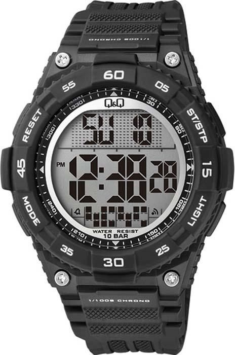 Часы наручные мужские Q&Q, цвет: черный. M147-001 q and q q868 001
