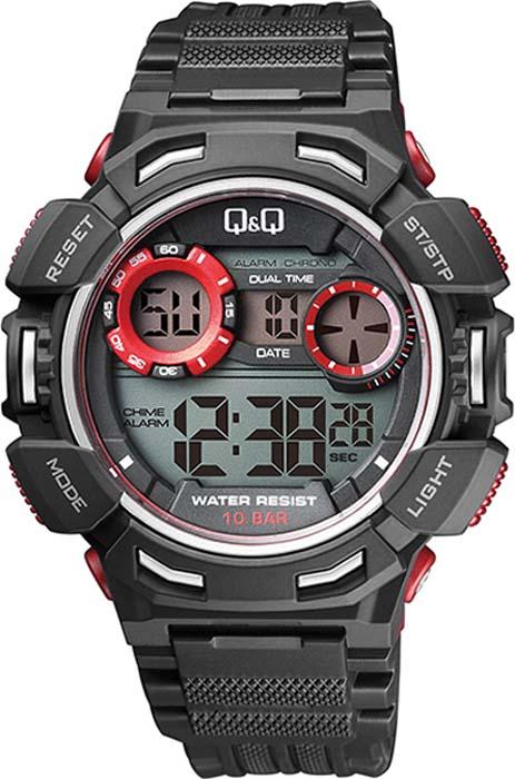 Часы наручные мужские Q&Q, цвет: черный. M148-002 мужские часы q and q vq66 002