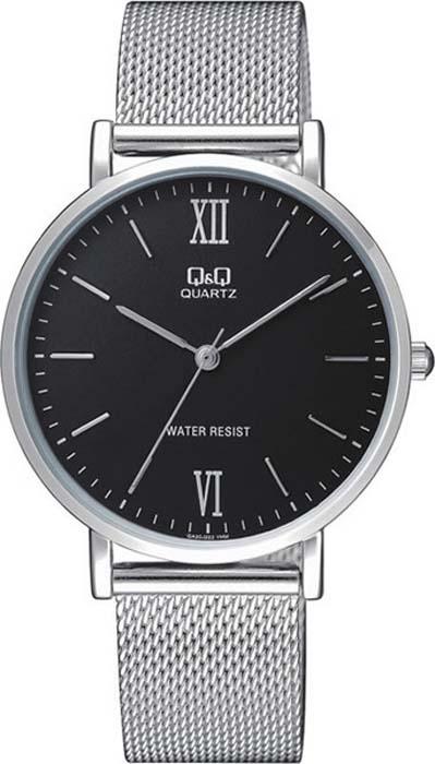 Часы наручные мужские Q&Q, цвет: серебристый. QA20-222 мужские часы q and q vq66 002