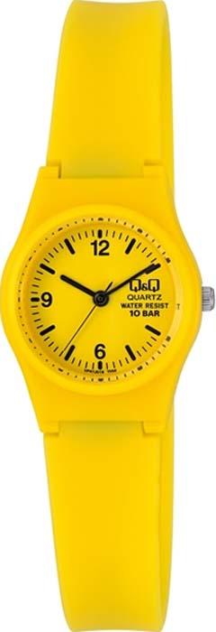 Часы наручные женские Q&Q, цвет: желтый. VP47-019 все цены