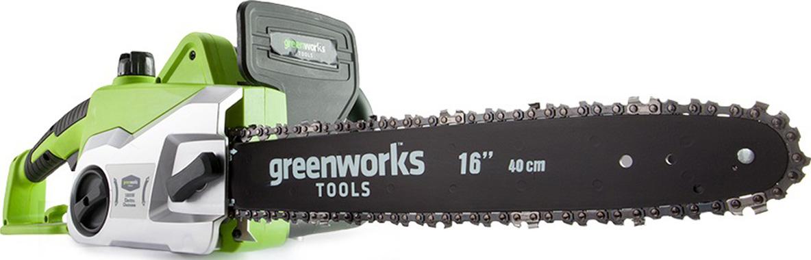 Пила цепная электрическая Greenworks, 1800W 20027 пила greenworks gcs1840 20027
