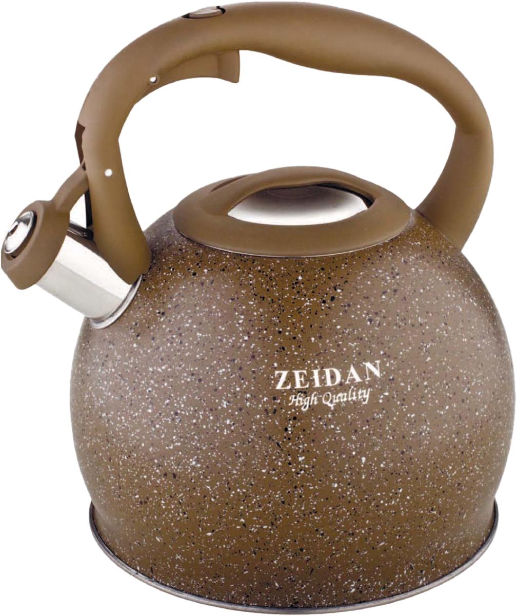 Чайник Zeidan Gravel, со свистком, цвет: серый, 3,5 л. Z-4135 чайник со свистком zeidan z 4167