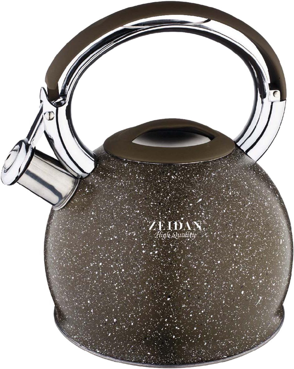 Чайник Zeidan Gravel, со свистком, цвет: серый, 3,5 л. Z-4161 чайник со свистком zeidan z 4167