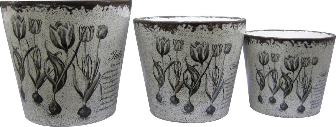 Набор горшков для цветов Miolla Тюльпан, 3 предмета александр горшков самарянка современная монастырская история