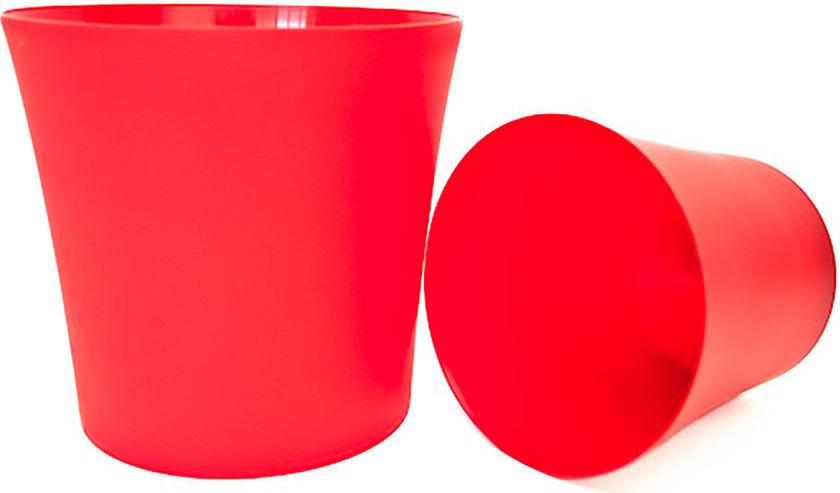 цена на Кашпо Form-Plastic Фиолек, цвет: красный, диаметр 16 см