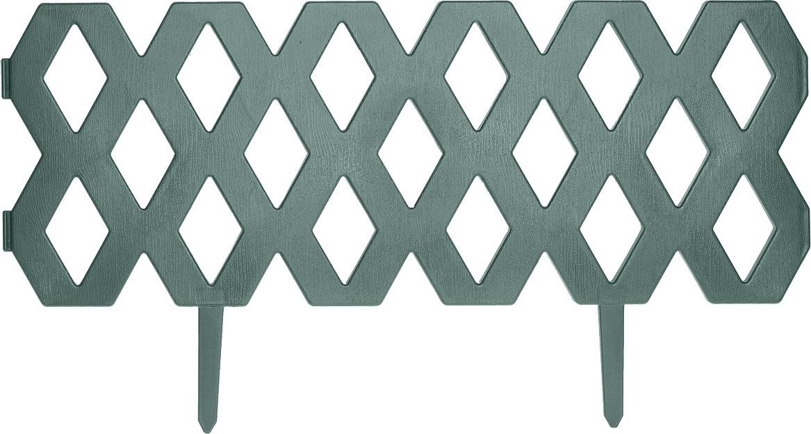 Забор декоративный пластиковый FIT Ромб, цвет: зеленый, 2 секции, 1,2 м shirley wheeldon pocket size handbook for dads who don t have a clue