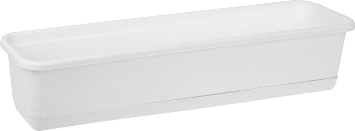 Балконный ящик Idea, цвет: мраморный, 80 см х 18 см цена