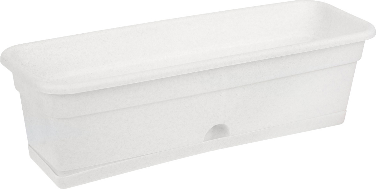 Балконный ящик Darel Plastic, с поддоном, цвет: мраморный, 60 см х 20 см х 17 см цена