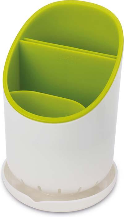 Сушилка для столовых приборов Joseph Joseph Dock, со сливом, цвет: зеленый. 85074 joseph joseph bladebrush для столовых приборов и ножей серый