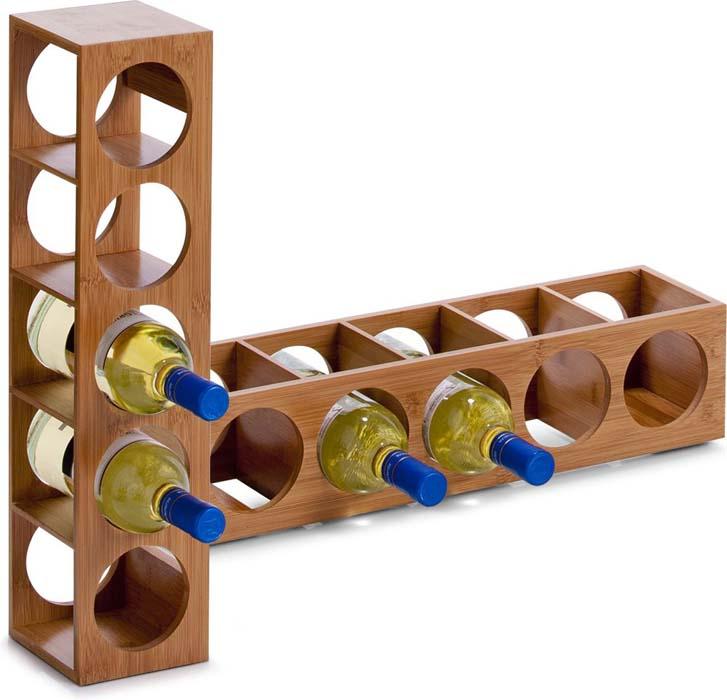 Фото - Подставка для бутылок Zeller, 13,5 х 12,5 х 53 см подставка для бутылок magic home ассорти цвет белый 19 х 19 х 37 см