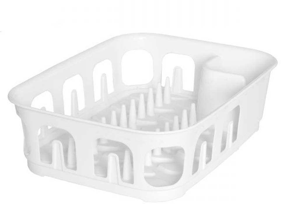 Сушилка для посуды Curver Essentials, цвет: белый, 39 х 29 х 10,1 см сушилка для посуды curver deco 39 5 39 5 10 см красный